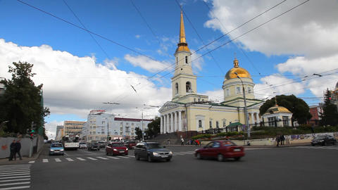 Street in Izhevsk Stock Video Footage