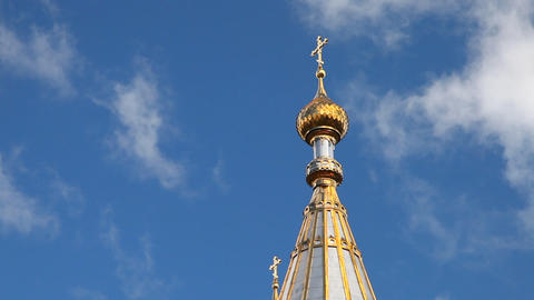 Dome of temple Stock Video Footage