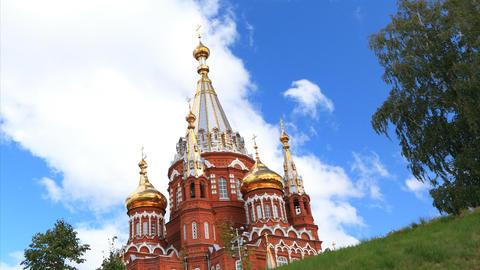 Svyato Mihailovsky Cathedral Izhevsk timelapse Stock Video Footage
