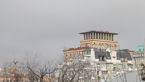 Hotel Ukraine in Kiev Stock Video Footage
