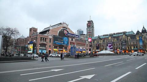 Besarabsky Market in Kiev Stock Video Footage