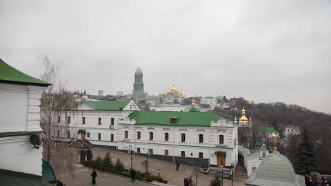 Kiev Pechersk Lavra in Kiev Stock Video Footage