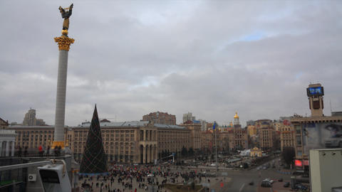 Maidany in Kiev timelapse Stock Video Footage