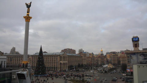 Maidany in Kiev timelapse Stock Video Footage