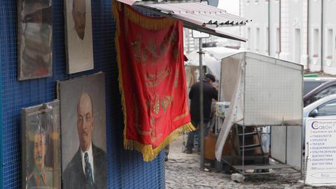 Andriyivskyy Descent in Kiev Stock Video Footage