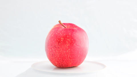 Turning Apple HD stock footage
