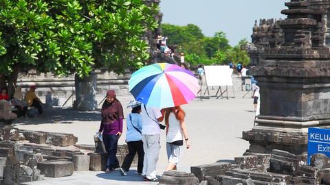 Prambanan temple Stock Video Footage
