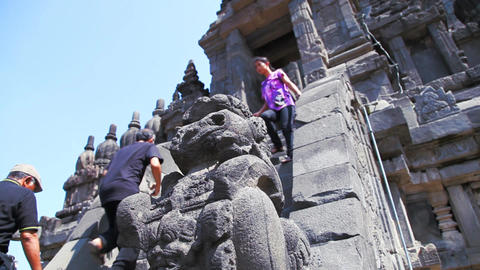 Prambanan temple Stock Video Footage