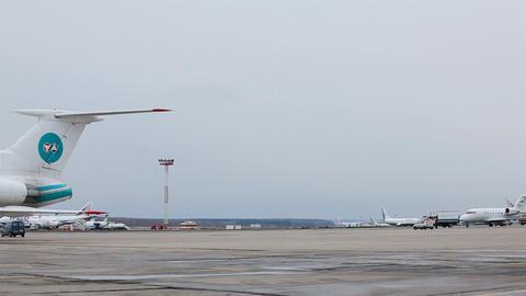 Airport runway Stock Video Footage