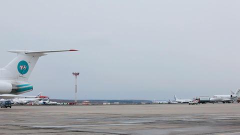 Airport runway Footage