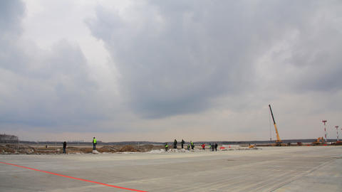 Airport runway timelapse Stock Video Footage