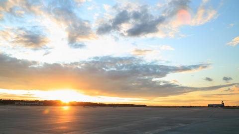 Airport runway timelapse Stock Video Footage