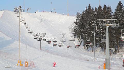 Skiing resort Stock Video Footage