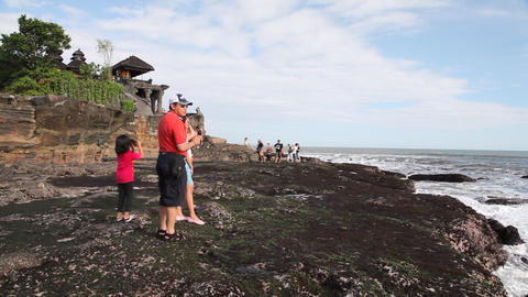 Tanah Lot Temple Stock Video Footage
