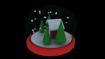 Rotation of 3D Christmas Crystal... Stock Video Footage