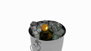 3D Ice wine.cool,cold,drink,frost,freeze,refreshing Stock Video Footage
