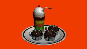 Delicious ice cream and Snacks.cakes,sweet,dessert,food,flavor,icecream,strawber Animation