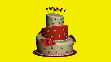 Delicious birthday cake.food,party,celebration,sweet,dessert,happy,candle,annive Animation