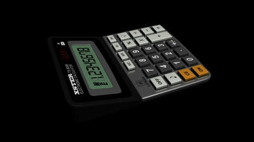 Calculator.business,office,accounting,finance,button,work,object,financial,number,mathematics stock footage