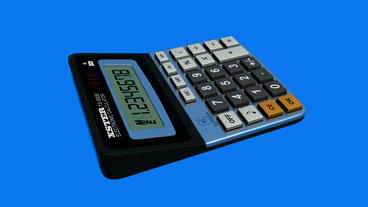 Calculator.business,office,accounting,finance,button,work,object,financial,number,mathematics, stock footage