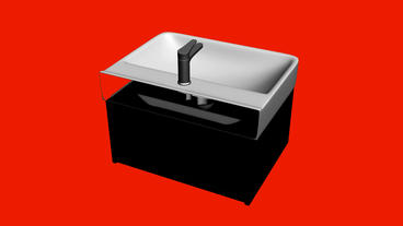 Luxurious wash basin.bathroom,modern,tap,faucet,clean,water,white,home,luxury,de Animation