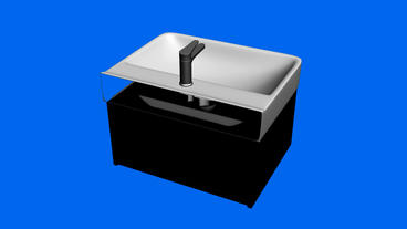Luxurious Wash Basin.bathroom,modern,tap,faucet,clean,water,white,home,luxury,design,apartment,inter stock footage