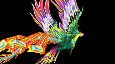 Flying Phoenix.bird,design,art,wing Stock Video Footage
