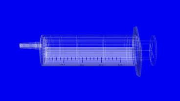 Transparent syringe,medical,medicine,injection Stock Video Footage