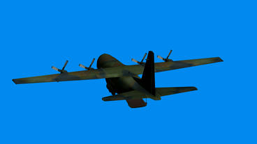 C130 transport aircraft flying,Cabin Stock Video Footage