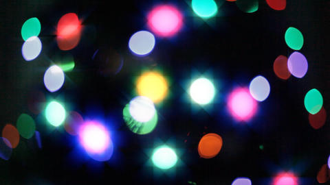 Blurred, Blinking Christmas Lights stock footage
