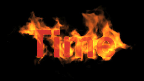 flame time word,fire text Stock Video Footage