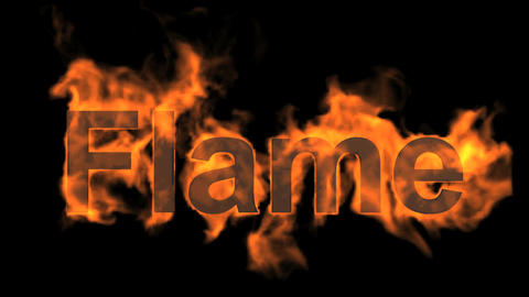burning flame word Stock Video Footage