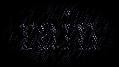 rain, seamless loop Animation