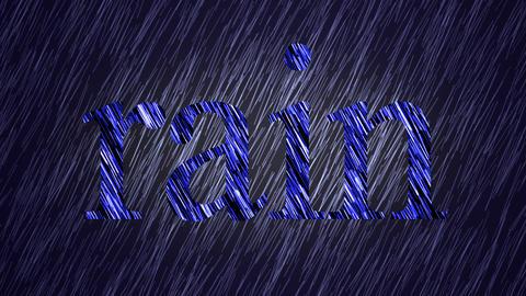 rain, seamless loop Stock Video Footage