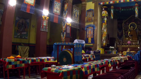 Buddhist, Temple, Interior stock footage