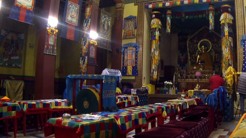 Buddhist, Temple, Interior Stock Video Footage