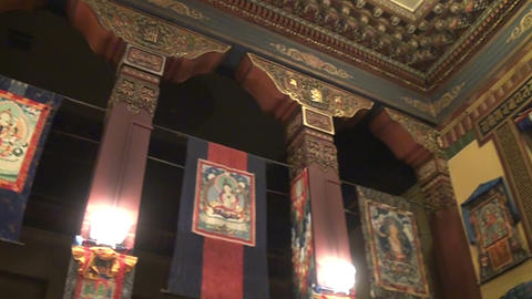 Buddhist, Temple, Interior Footage