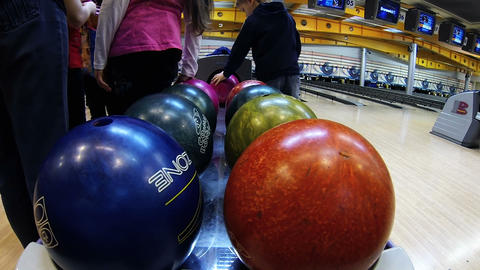 Bowling balls Stock Video Footage