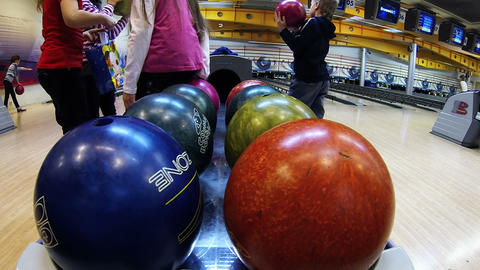 Bowling balls Footage