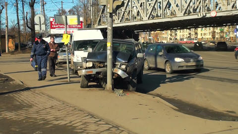 Road accident Stock Video Footage