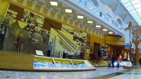 The hall of Ethnography Museum in St. Petersburg Footage