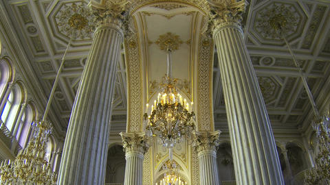 The halls of state Hermitage Museum in St. Petersburg Stock Video Footage