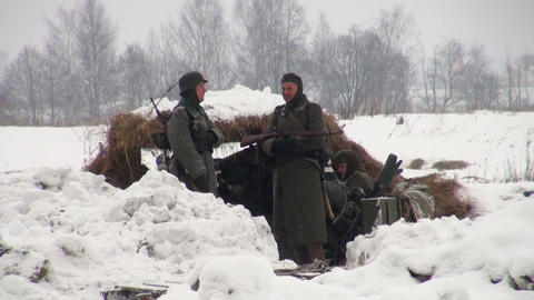 German soldiers in the war at Leningrad Footage