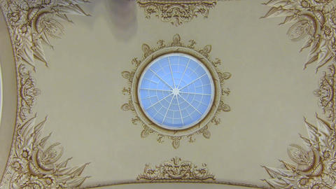 The old ceiling with stucco Footage
