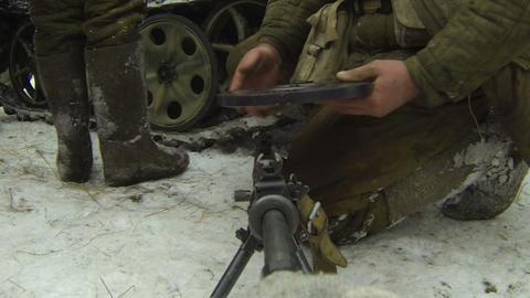 Machine-Gun Stock Video Footage