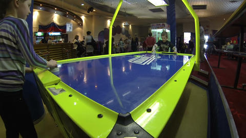 Air hockey Stock Video Footage