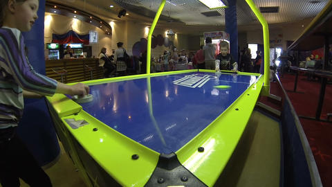 Air hockey Stock Video Footage