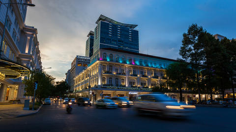 1080 - TIMELAPSE - HOTEL CONTINENTAL IN SAIGON Footage