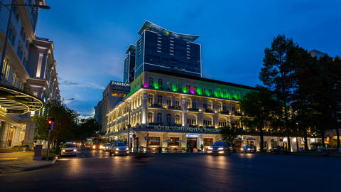 1080 - TIMELAPSE - HOTEL CONTINENTAL IN SAIGON Stock Video Footage