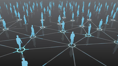 Social Network Connection D 4b 2 HD Animation